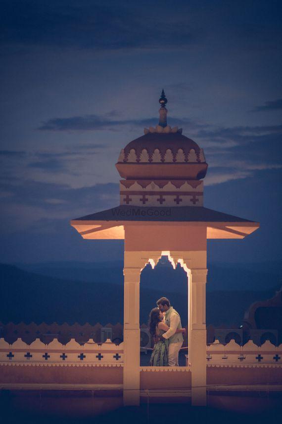 Photo of Beautiful couple shot for palace wedding