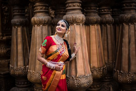 Photo of Stunning south indian bridal portrait for the wedding day