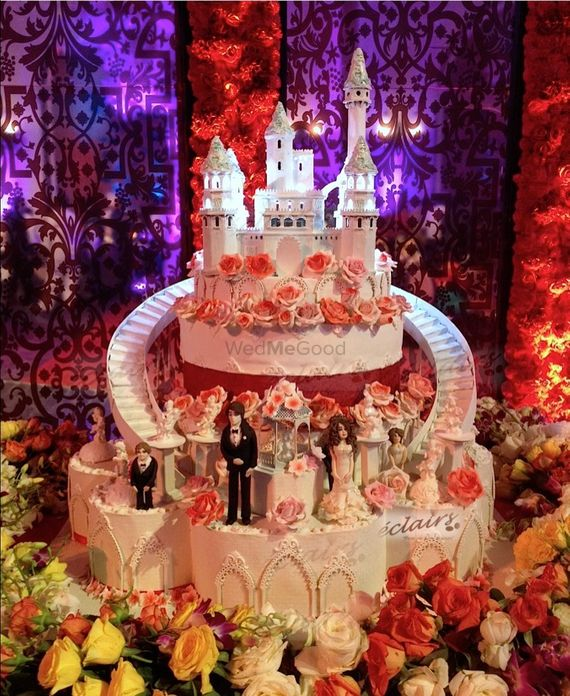 Photo of castle themed cake