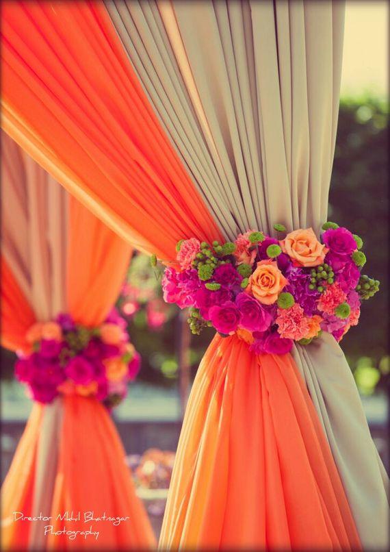 Photo of Floral Arrangement Curtain Tiebacks