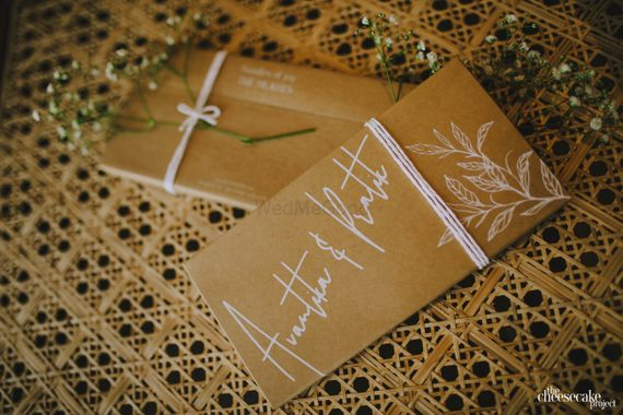 Photo of Simple wedding card with couple names