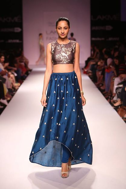 Photo of Payal Singhal crop top black lehenga