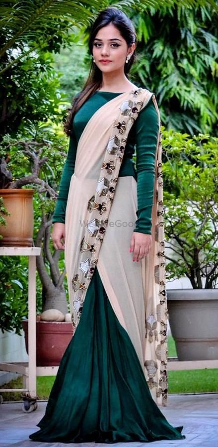 Photo of gown saree