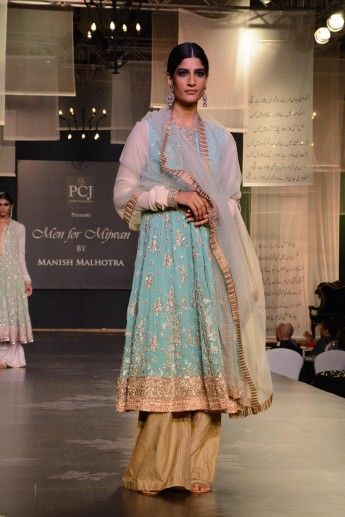 Photo of blue anarkali