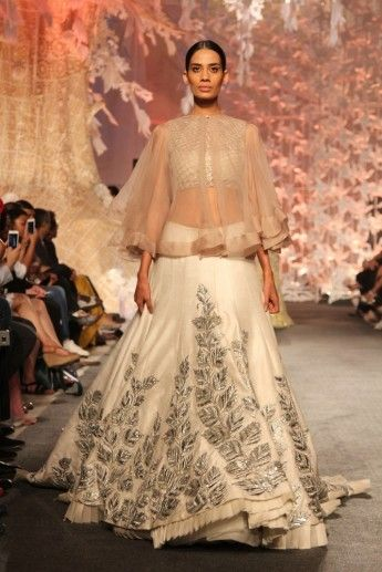 Photo of White cape lehenga by Manish Malhotra