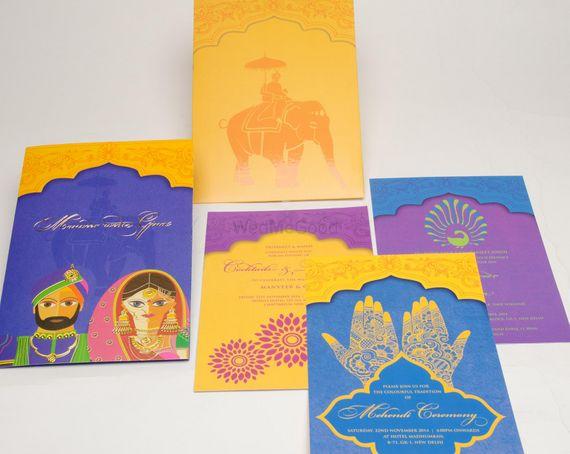 Photo of caricature invitation card