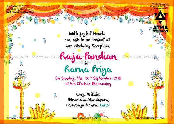 Tamil Wedding Invite Quirky Invitations Pictures Wedding