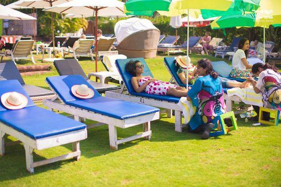Photo of Destination mehendi idea foot massage for guests