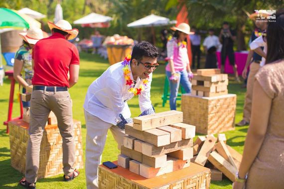 Photo of Giant jenga game for guests at mehendi