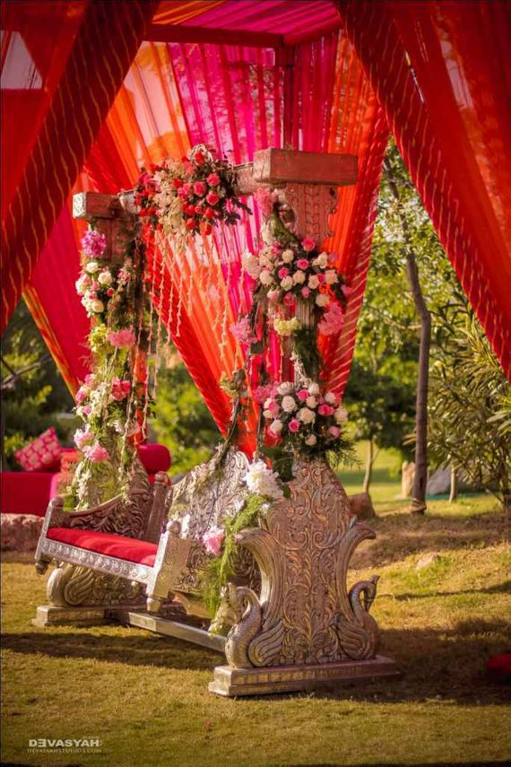 Photo of Beautiful floral swing for Mehendi