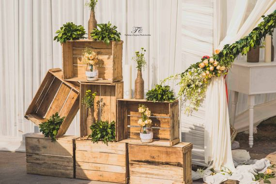 Photo of wooden crates