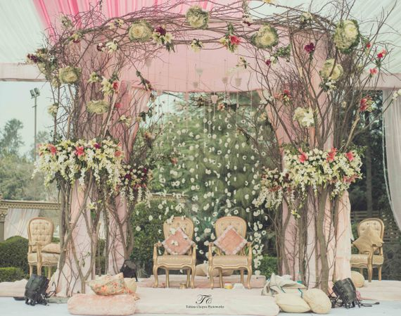 Photo of morning wedding decor