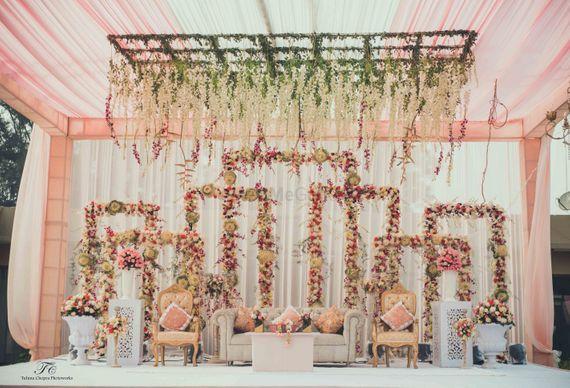 Photo of pastel pink decor