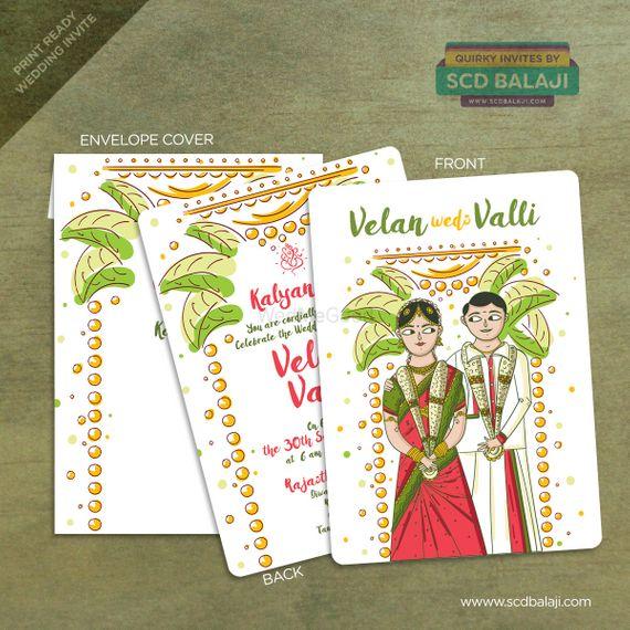 Tamil Wedding Invitation - SCD Balaji Pictures