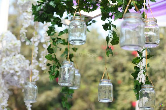 Photo of DIY decor with hanging mason jars