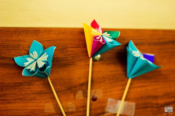 Photo of paper flowers