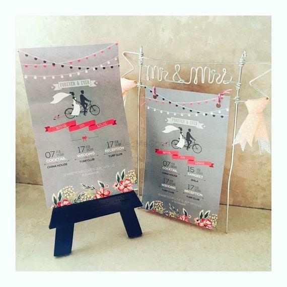 Photo of Light Grey Wedding Flyer with Illustration
