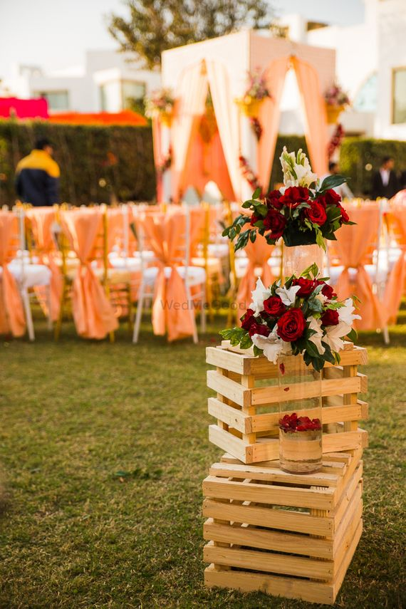 Photo of Rustic decor idea with wooden crates