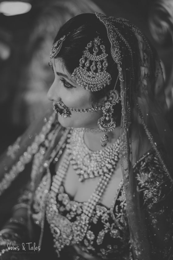 Photo of Black and white bride shot