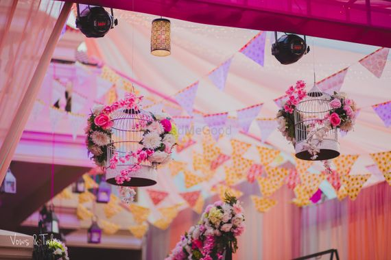 Photo of Floral Birdcages in decor