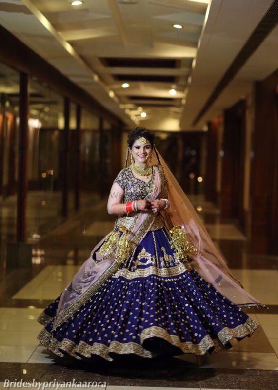 Photo of Navy blue bridal lehenga offbeat