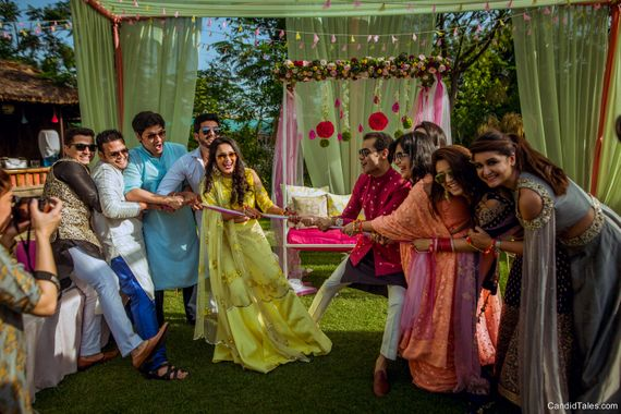 Photo of Mehendi game for guests tug of war