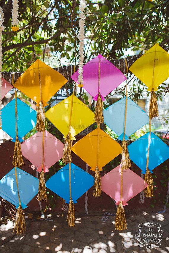 Photo of Colorful kites in decor