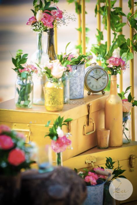 Photo of Antique trunks and clocks in decor