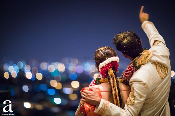 Photo of South indian couple back shot