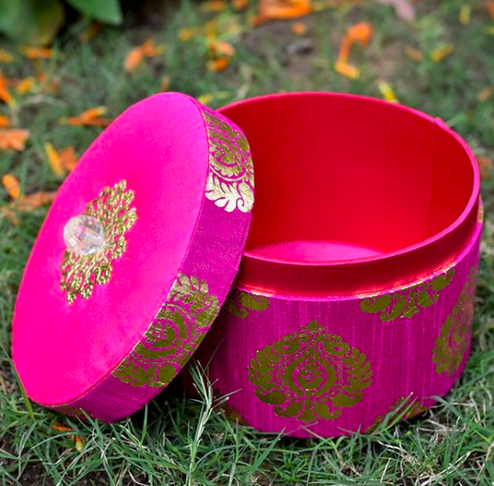 Photo of Fabric boxes for favours