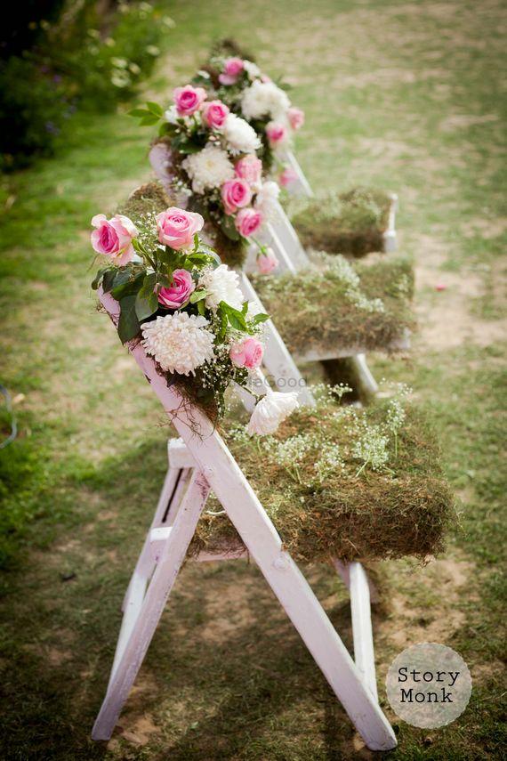Photo of Chair decor ideas with floral arrangement