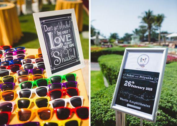 Photo of sunglasses for summer wedding