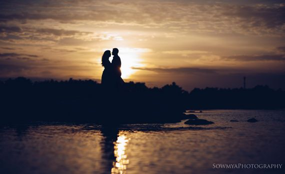 Photo of Beautiful pre wedding shoot sunset shot