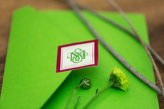 Photo of bright green cards
