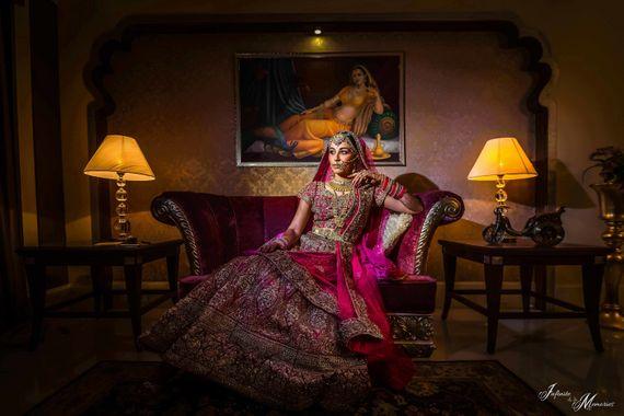 Photo of Royal bridal portrait pose ideas