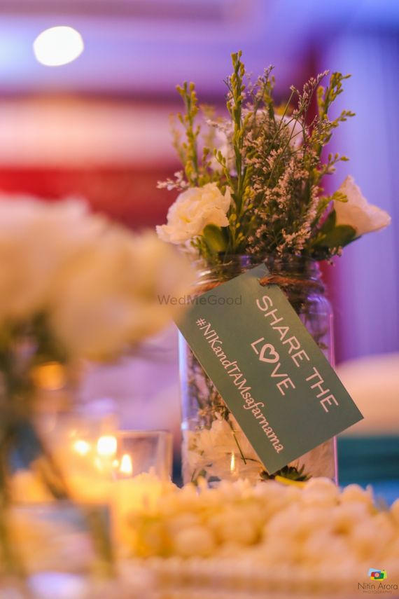 Photo of Ideas for displaying wedding hashtag