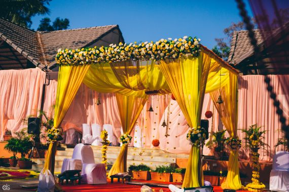 Photo of yellow mandap