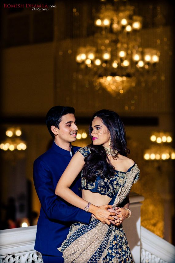 Photo of Coordinated bride and groom on sangeet