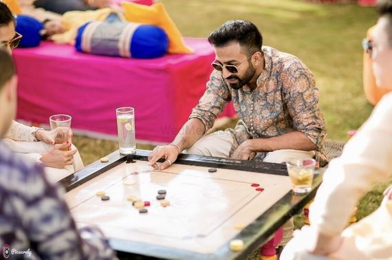 Photo of Games for guests on mehendi carrom board