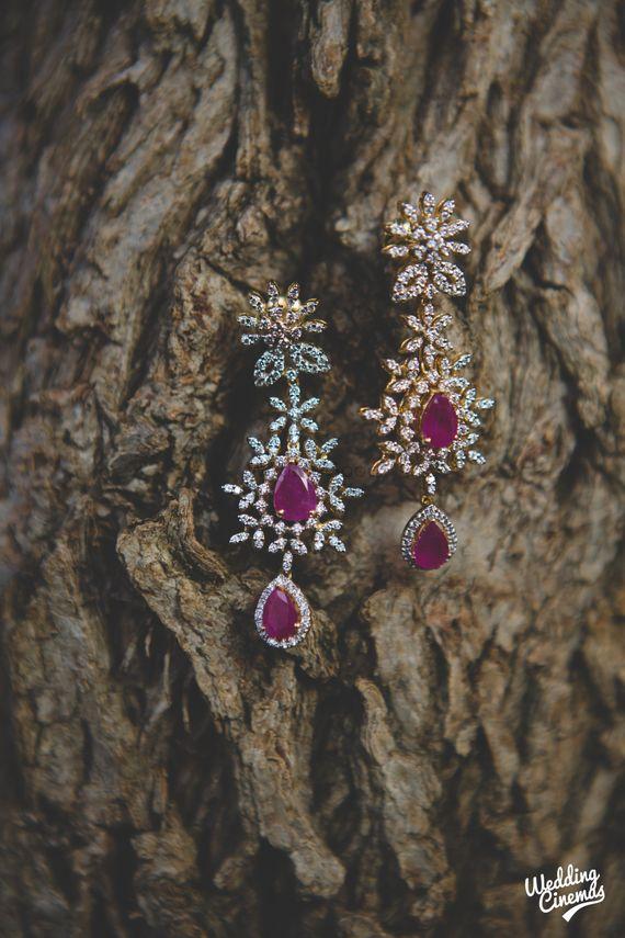 Photo of Diamond and rubies earrings