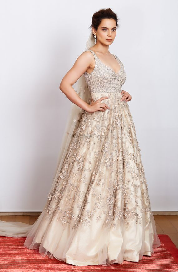 Photo of Cocktail outfit silver gown with embellishment