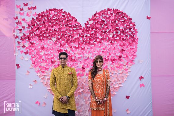 Photo of Mehendi photobooth with ombre heart