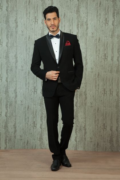 Photo of black and white tux