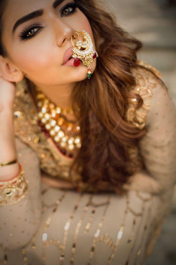 Photo of Unique elaborate nosering for bride