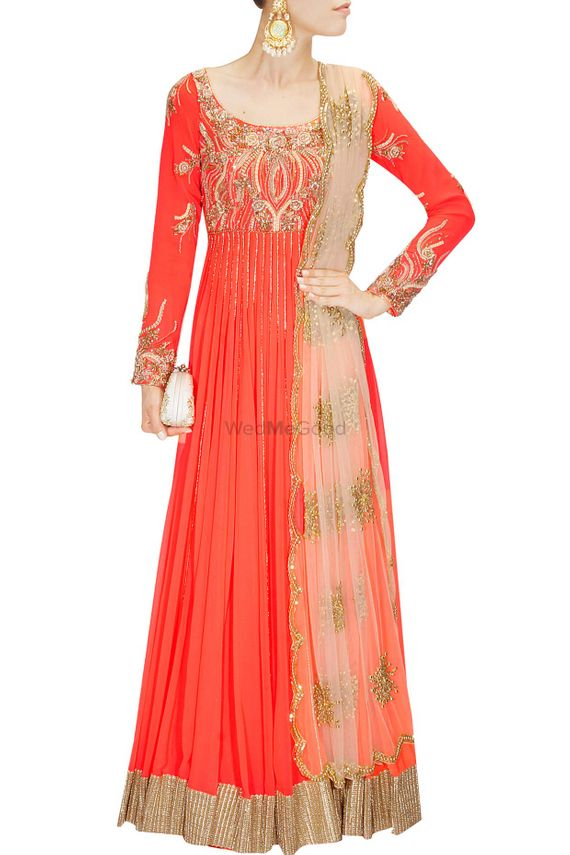 Photo of red anarkali