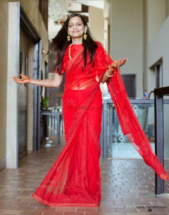 Photo of red saree