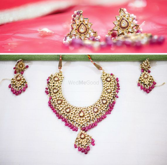 Photo of kundan necklace with rubies