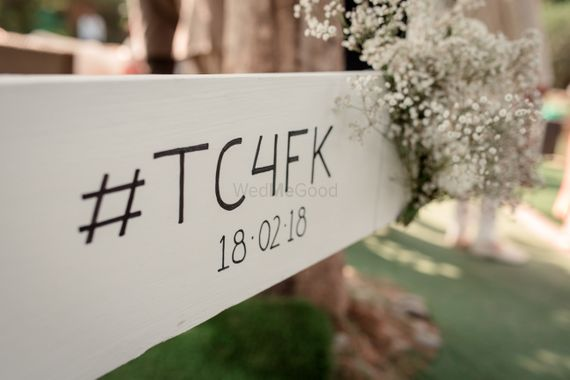 Photo of Wedding hashtag with date