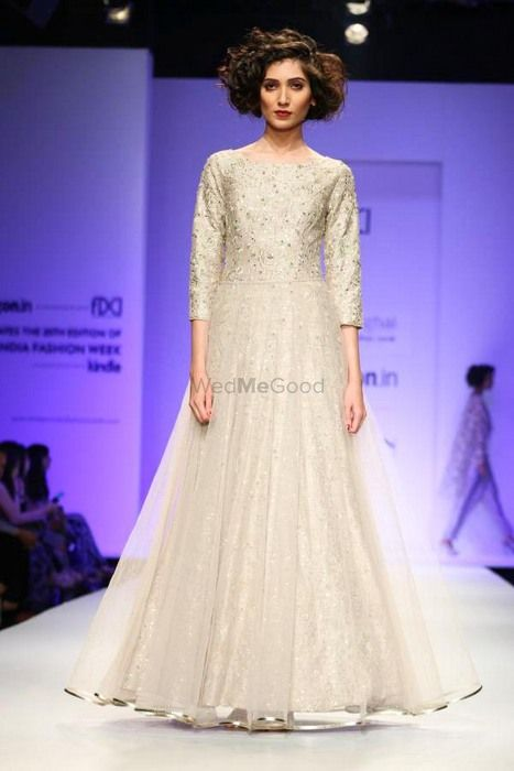 Photo of floor length gown