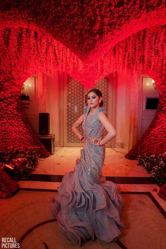 Photo of Silver grey gaurav Gupta gown